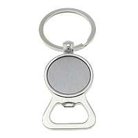 Bottle Opener Key Chain, Zinc Alloy, platinum color plated, with bottle opener, 30x57x5mm, 35x35x2mm, 86mm, Sold By PC
