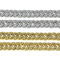 Stainless Steel Curb Chain, plated, more colors for choice, 12mm, Sold By m