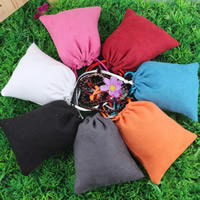 Suede Drawstring Pouches, with Nylon Cord, mixed colors, 100x120mm, Sold By PC