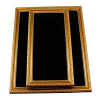 Wood Necklace Display, with Sponge, Rectangle, different size for choice, black, Sold By PC