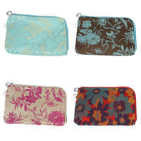 Mobile Phone Pouch, Silk, with Iron, Rectangle, mixed colors, 175x120x13mm, Sold By PC