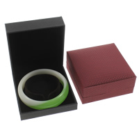Silk Bracelet Box, with Cardboard & Velveteen, Rectangle, more colors for choice, 85x87x35mm, Sold By PC