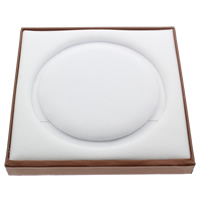Cardboard Necklace Display, with Sponge & Velveteen, Rectangle, deep coffee color, 191x187x20mm, Sold By PC