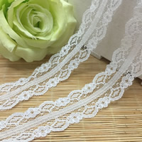 Lace Trim, Flower, white, 30mm, Sold By Yard