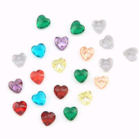 Cubic Zirconia Stones, Heart, rivoli back & faceted, more colors for choice, 4x4mm, Sold By PC