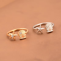 Zinc Alloy Cuff Finger Ring, plated, with rhinestone, more colors for choice, nickel, lead & cadmium free, 16mm, US Ring Size:5.5, Sold By PC