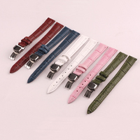 Watch Band, Cowhide, with Stainless Steel, different size for choice, more colors for choice, 93mm,115mm, Sold By Set