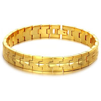 Brass Bracelets, gold color plated, stardust, nickel, lead & cadmium free, 10mm, Length:Approx 8 Inch, Sold By Strand