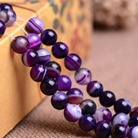 Natural Lace Agate Beads, Round, different size for choice, purple, Grade AAAAAA, Hole:Approx 1mm, Length:Approx 15.5 Inch, Sold By Strand