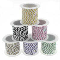 Polyamide Cord, with plastic spool, two tone, more colors for choice, 1mm, 10m/Spool, Sold By Spool