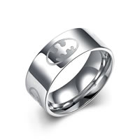comeon® Finger Ring, Stainless Steel, different size for choice & for man, original color, 8x22mm, Sold By PC