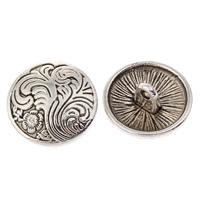 Zinc Alloy Shank Button, Flat Round, antique silver color plated, lead & cadmium free, 18x8mm, Hole:Approx 1.5mm, Sold By PC