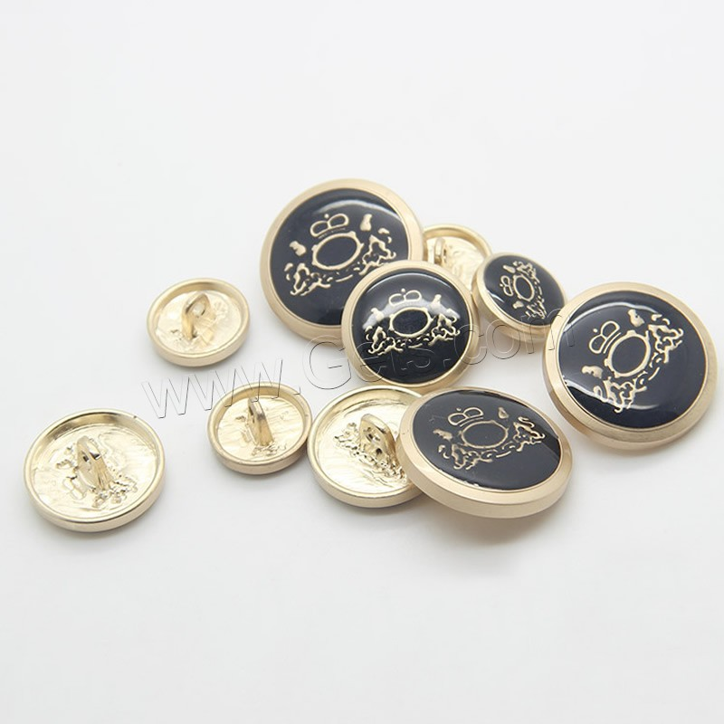 Zinc alloy shank button gold color plated for Buttons with shanks for jewelry