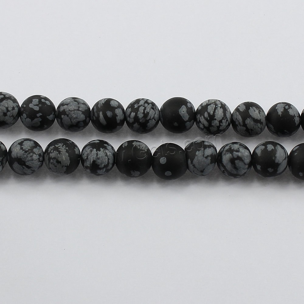Snowflake Obsidian Bead, Round, natural, different size for choice & frosted, Hole:Approx 1-2mm, Length:Approx 15.5 Inch, Sold By Strand