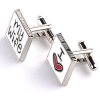 Zinc Alloy Cufflinks, platinum color plated, enamel & mixed, lead & cadmium free, 20mm, Sold By Pair