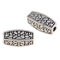 Zinc Alloy Jewelry Beads, Rectangle, plated, more colors for choice, lead & cadmium free, 12x5mm, Hole:Approx 1mm, Approx 900PCs/KG, Sold By KG