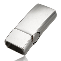 Zinc Alloy Magnetic Clasp, Rectangle, platinum color plated, 30.5x13x8mm, Hole:Approx 11x5mm, Sold By PC