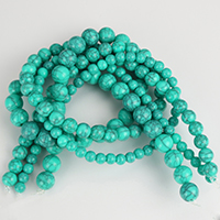 Imitation Gemstone Resin Beads, Round, imitation turquoise & different size for choice, Sold By Strand