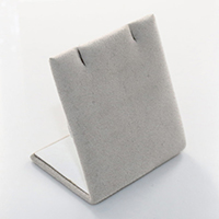 Velveteen Earring Display, with Cardboard, silver-grey, 51x56x37mm, Sold By PC