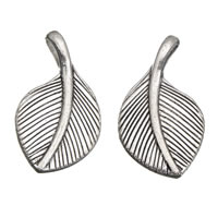 Zinc Alloy Leaf Pendants, antique silver color plated, lead & cadmium free, 16x29x6mm, Hole:Approx 3x5mm, 100G/Bag, Sold By Bag