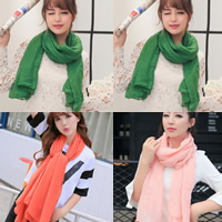 Cotton Scarf, Rectangle, more colors for choice, 180x90cm, Sold By Strand