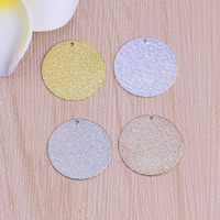 Stardust Brass Pendants, Flat Round, plated, more colors for choice, nickel, lead & cadmium free, 20x0.5mm, Hole:Approx 1mm, Sold By PC