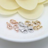Brass Lobster Claw Clasp, plated, more colors for choice, 12mm, Hole:Approx 1mm, Sold By PC