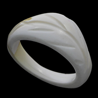 Shell Finger Ring, White Shell, natural, carved, 25x10mm, US Ring Size:9, Sold By PC