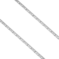 Stainless Steel Mariner Chain, original color, 6x2x0.5mm, Sold By m