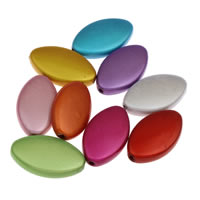 Miracle Acrylic Beads, Flat Oval, mixed colors, 14x23x5mm, Hole:Approx 1mm, Approx 380PCs/Bag, Sold By Bag