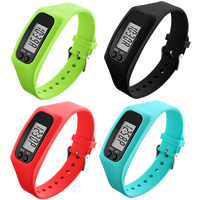 LED Light Watch, Silicone, with Plastic, more colors for choice, 27x45mm, Length:Approx 10 Inch, Sold By PC