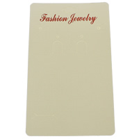 Paper Jewelry Set Display Card, Rectangle, with letter pattern, white, 94x167mm, 1000PCs/Bag, Sold By Bag