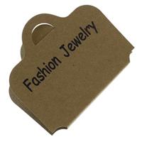 Paper Necklace & Bracelet Display Card, with letter pattern, 70x117mm, 1000PCs/Bag, Sold By Bag