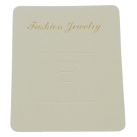 Hair Flower Display Card, Paper, Rectangle, with letter pattern, white, 60x74mm, 1000PCs/Bag, Sold By Bag