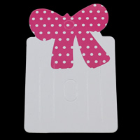 Hair Clip Display Card, Paper, two tone, 50x79mm, 1000PCs/Bag, Sold By Bag