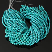 Dyed Natural Turquoise Beads, Dyed Turquoise, Round, more sizes for choice, blue, Hole:Approx 1mm, Length:Approx 16 Inch, Sold By Strand