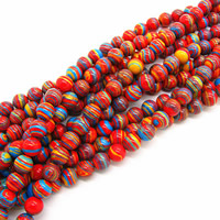 Synthetic Malachite Beads, Round, 6mm, Hole:Approx 1mm, Length:Approx 15 Inch, Approx 60PCs/Strand, Sold By Strand