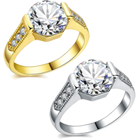 Newegg® Jewelry Set, Brass, plated, different size for choice & micro pave cubic zirconia & for woman, more colors for choice, 9mm, Sold By PC