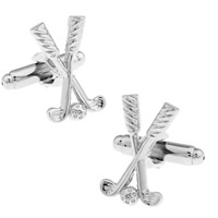 Brass Cufflinks, Golf Club, platinum color plated, nickel, lead & cadmium free, 10-20mm, Sold By Pair