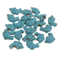 Synthetic Turquoise Beads, Dolphin, different size for choice, more colors for choice, Hole:Approx 1mm, Sold By Bag