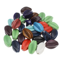 Glazed Porcelain Beads, mixed colors, 16x30mm, Hole:Approx 2mm, 20PCs/Bag, Sold By Bag