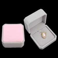 Velveteen Pendant Box, with Cardboard, Octagon, two tone, 74x45mm, Sold By PC
