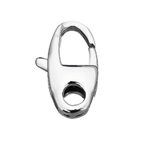 Stainless Steel Spring Ring Clasp, hand polished, original color, 9x15.5x4mm, Hole:Approx 3mm, Sold By PC