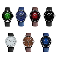 comeon® Men Jewelry Watch, Cowhide, with Glass & Zinc Alloy, Chinese movement, plated, for man, more colors for choice, 40mm, Length:Approx 9.6 Inch, Sold By PC