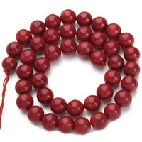 Natural Coral Beads, Round, different size for choice, red, Hole:Approx 1mm, Length:Approx 15.5 Inch, Sold By Strand