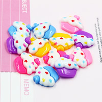 Mobile Phone DIY Decoration, Resin, Cake, flat back, mixed colors, 17x18mm, Sold By PC