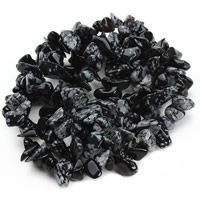 Snowflake Obsidian Bead, Nuggets, 8-12mm, Hole:Approx 1.5mm, Length:Approx 31 Inch, Approx 76PCs/Strand, Sold By Strand