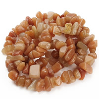 Red Aventurine Bead, Nuggets, 8-12mm, Hole:Approx 1.5mm, Length:Approx 31 Inch, Approx 76PCs/Strand, Sold By Strand