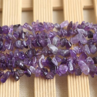 Natural Amethyst Beads, Nuggets, February Birthstone, 3-8mm, Hole:Approx 0.5-1mm, Length:Approx 33.4 Inch, Sold By Strand