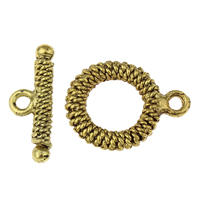 Zinc Alloy Toggle Clasp, antique gold color plated, lead & cadmium free, 16x21x2mm, 21x8x2mm, Hole:Approx 1.5mm, 20PCs/Bag, Sold By Bag